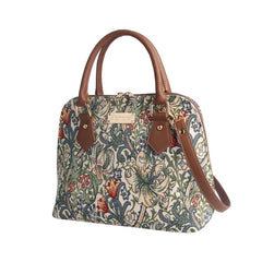 William Morris Golden Lily Top-Handle Shoulder Bag | Tapestry Art Shoulder Bag | CONV-GLILY