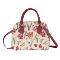 Marrel's Tulip White Top-Handle Shoulder Bag | Floral Womens Shoulder Bag | CONV-JMTWT