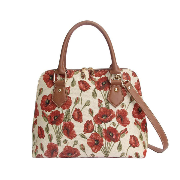 Poppy Top-Handle Shoulder Bag | Fashion Tapestry Shoulder Strap Handbag | CONV-POP