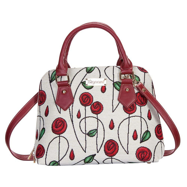 Mackintosh Rose Top-Handle Shoulder Bag | Designer Floral Top-Handle Shoulder Side Tote | CONV-RMSP
