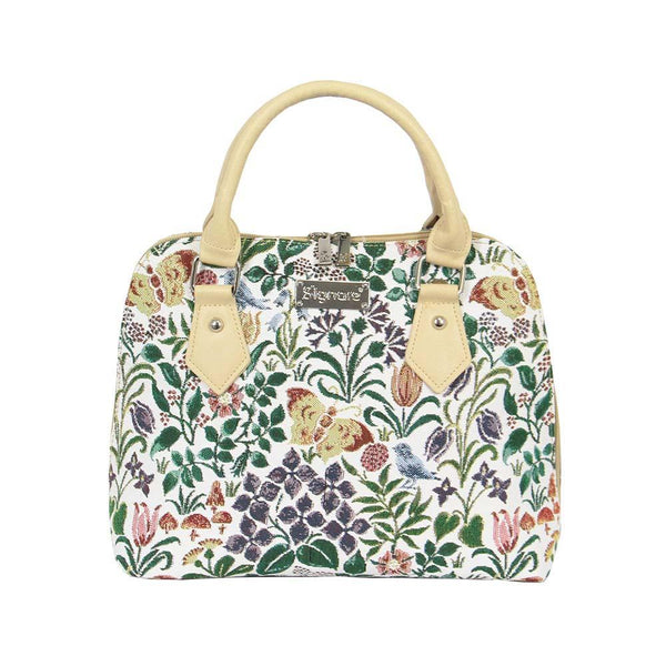 Spring Flowers Top-Handle Shoulder Bag | Floral Tapestry Ladies Shoulder Bag | CONV-SPFL