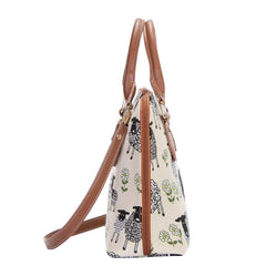 Spring Lamb Top-Handle Shoulder Bag | Animal Design Shoulder Bag | CONV-SPLM