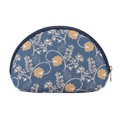 Jane Austen Blue Cosmetic Bag | Floral Tapestry Art Makeup Case | COSM-AUST