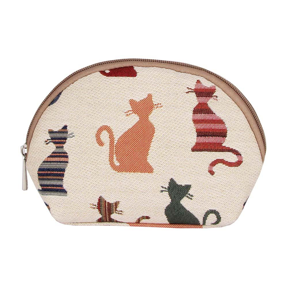 Cheeky Cat Cosmetic Bag | Cute Tapestry Makeup Case | COSM-CHEKY