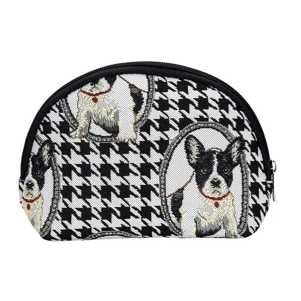 French Bulldog Cosmetic Bag | Cute Stylish Tapestry Makeup Case | COSM-FREN