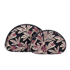 Golden Fern Cosmetic Bag | Floral Art Tapestry Makeup Case | COSM-GFERN