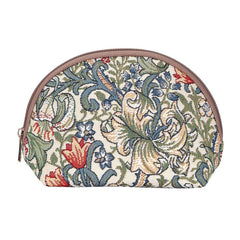 William Morris Golden Lily Cosmetic Bag | Floral Tapestry Cosmetic Case | COSM-GLILY