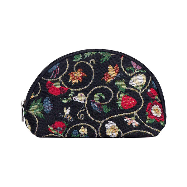 Jacobean Dream Cosmetic Bag | Black Makeup Case | COSM-JACOB