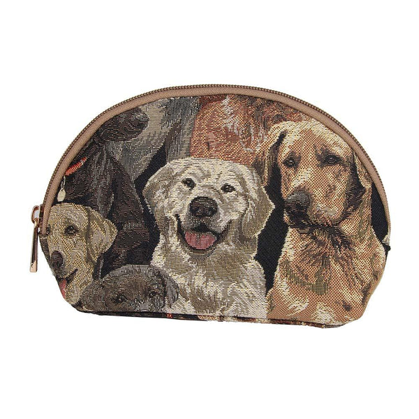 Labrador Cosmetic Bag |Stylish Tapestry Fabric Makeup Toiletry Beauty Case Labrador-COSM-LAB