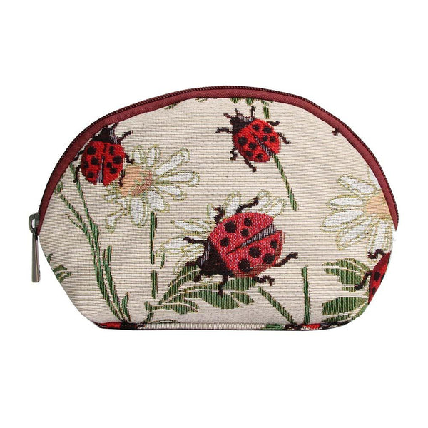 Ladybird Cosmetic Bag | Stylish Tapestry Makeup Case | COSM-LDBD