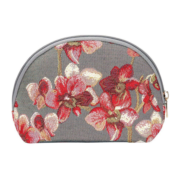 Orchid Cosmetic Bag | Unique Branded Tapestry Toiletry Makeup Travel Case Holder | COSM-ORC