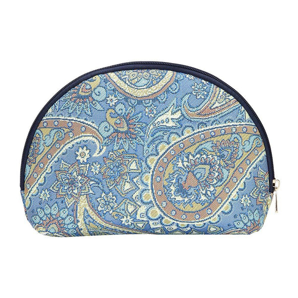 Paisley Cosmetic Bag | Makeup Toiletry Tapestry Travel Beauty Case | COSM-PAIS