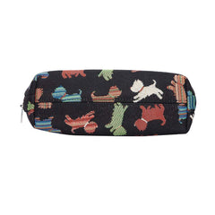 Playful Puppy Cosmetic Bag | Unique Fashion Makeup Toiletry Travel Beauty Bag Playful Puppy | COSM-PUPPY