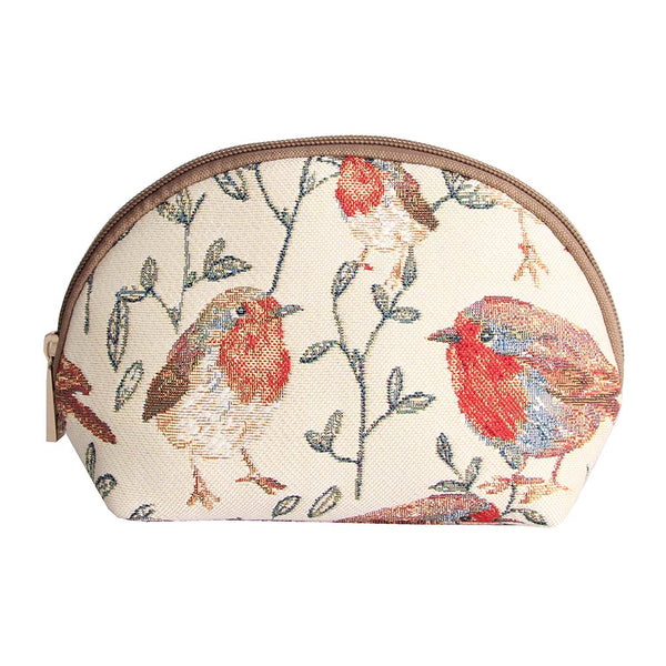 Robin Cosmetic Bag | Stylish Tapestry Makeup Case | COSM-ROB
