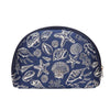 Sea Shell Cosmetic Bag | Nautical Makeup Bag | COSM-SHELL