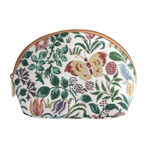Spring Flowers Cosmetic Bag | Floral Tapestry Travel Makeup Bag | COSM-SPFL