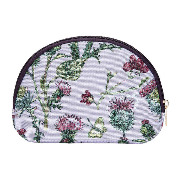 Thistle Cosmetic Bag | Ladies Unique Floral Beauty Makeup Toiletry Storage Case | COSM-THIS