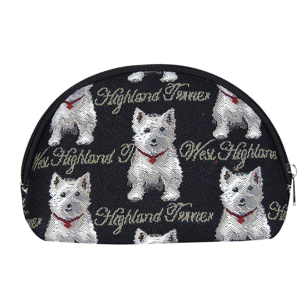 Westie Cosmetic Bag | Cute Stylish Tapestry Makeup Case | COSM-WES