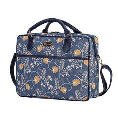 Jane Austen Blue Computer Bag | Floral Tapestry Laptop Bag/Case 15.6 inch | CPU-AUST