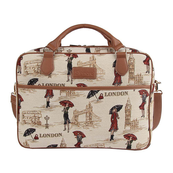 Miss London Computer Bag | Stylish Tapestry Laptop Case 15.6 inch | CPU-MSLN