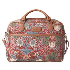 William Morris Strawberry Thief Red Computer Bag | Floral Tapestry Laptop Case 15.6 inch | CPU-STRD