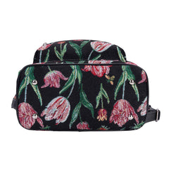 Marrel's Tulip Black Day Pack | Floral Tapestry Small Backpack for Women | DAPK-JMTBK