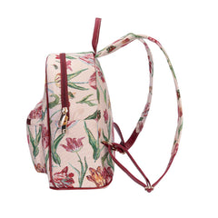 Marrel's Tulip White Day Pack | Womens Floral Tapestry Backpack | DAPK-JMTWT