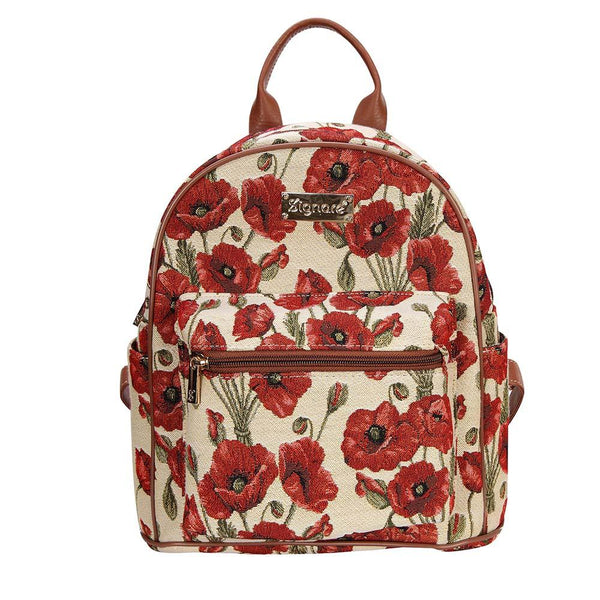 Poppy Casual Daypack | Floral Tapestry Womens Backpack | DAPK-POP