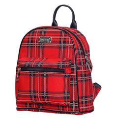 Royal Stewart Tartan Casual Daypack | Scottish Plaid Womens Rucksack | DAPK-RSTT