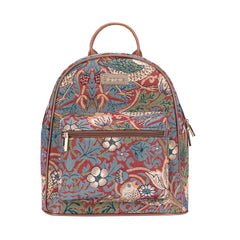 Strawberry Thief Red Casual Daypack | Small Backpack for Women | DAPK-STRD