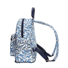 William Morris Willow Bough Casual Daypack | Womens Blue Tapestry Rucksack | DAPK-WIOW