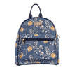 Jane Austen Blue Day Pack | Tapestry Blue Womens Backpack | DAPK-AUST
