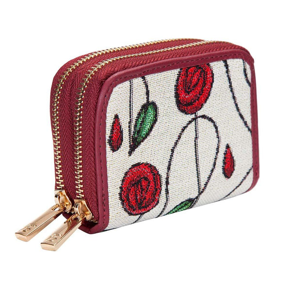 Mackintosh Simple Rose Double Zip Credit Card Holder | Art Floral RFID Wallet | DZIP-RMSP