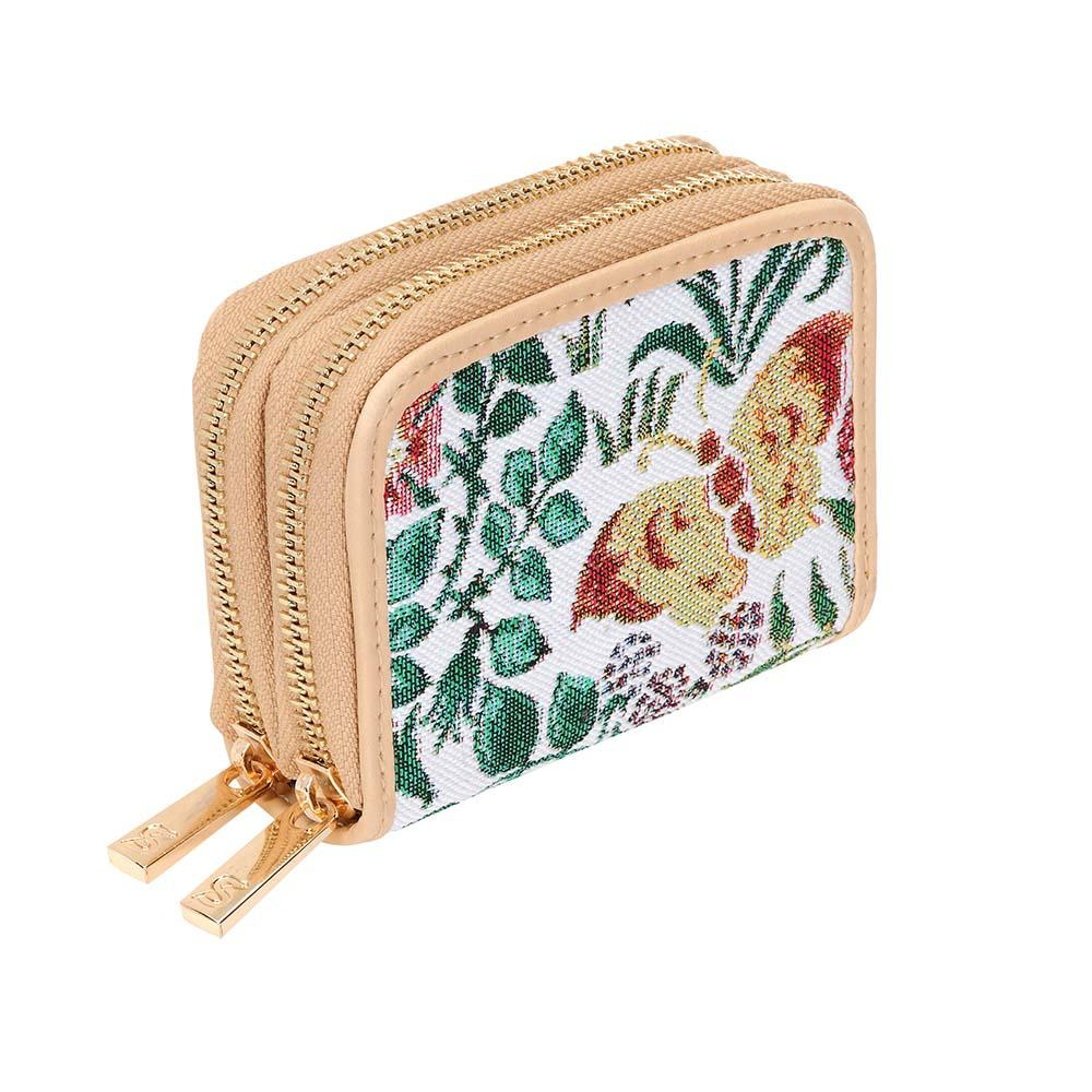 Spring Flowers Double Zip Card Holder | RFID Card Protector | DZIP-SPFL