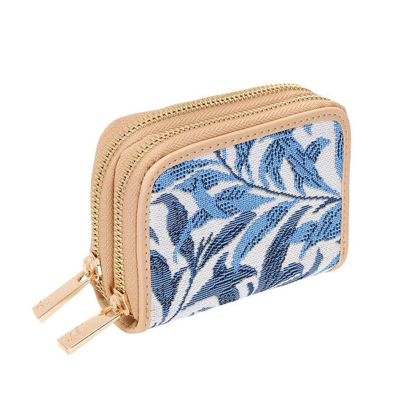 William Morris Willow Bough Double Zip Around Credit Card Holder | RFID Purse | DZIP-WIOW