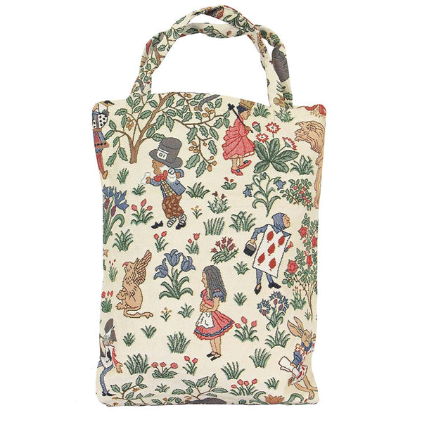 Alice in Wonderland ECO Foldable Bag | Designer Art Go-Green Fabric Grocery Tote | ECO-ALICE