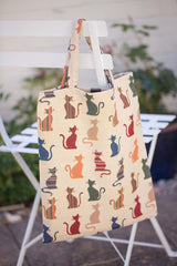 Cheeky Cat ECO Foldable Bag | Eco Canvas Bags | ECO-CHEKY