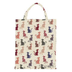 Cheeky Cat ECO Foldable Bag | Stylish Tapestry Reusable Canvas Tote | ECO-CHEKY