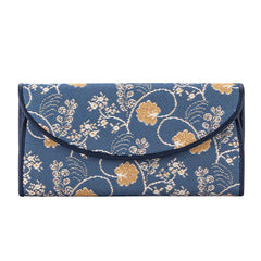 Jane Austen Blue Envelope Purse | Oak Flower Pocket Passport Card Coin Wallet | ENVE-AUST