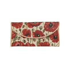 Poppy Envelope Purse | Floral Tapestry Ladies Purse | ENVE-POP