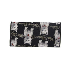 Westie Envelope Purse | Black Tapestry Ladies Purse | ENVE-WES