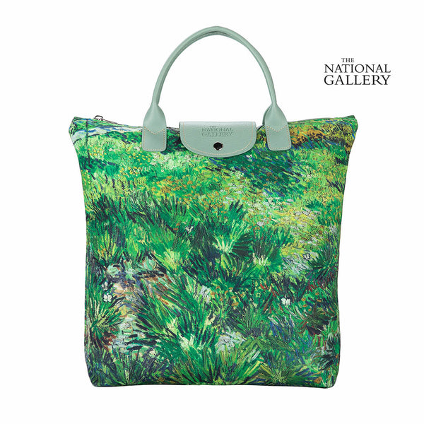 Foldaway Bag-Art-von Gogh-Long Grass with Butterflies | Foldaway Shopping Bags | Tapestry Foldable Tote Bag | FDAW-FDAW-ART-VG-LONG