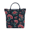 Frida Kahlo Poppy Foldaway Shopping Bags | Tapestry Foldable Tote Bag | FDAW-FKPOP