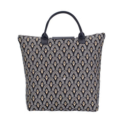 Luxor Foldaway Shopping Bag | Black Foldable Tote Bag | FDAW-LUXOR
