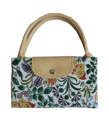 Spring Flowers Foldaway Shopping Bag | Floral Tapestry Fold Up Shopping Bag | FDAW-SPFL