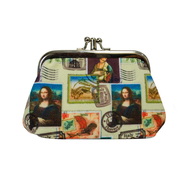 frame purse da vinci stamp design