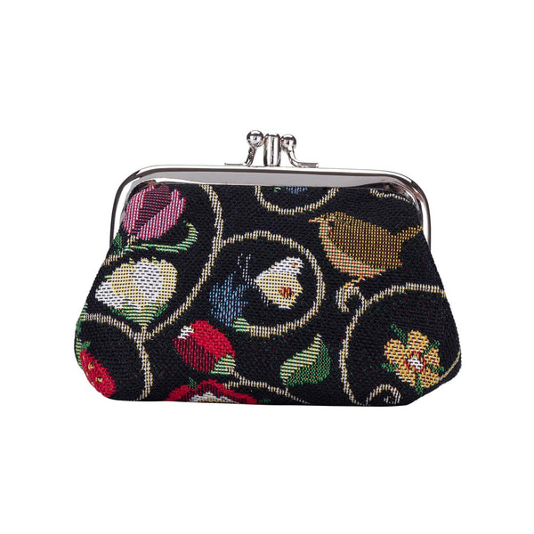 Jacobean Dream Frame Purse | Floral Black Coin Purse | FRMP-JACOB