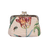 Marrel's Tulip White Frame Purse | Floral Tapestry Coin Purse | FRMP-JMTWT