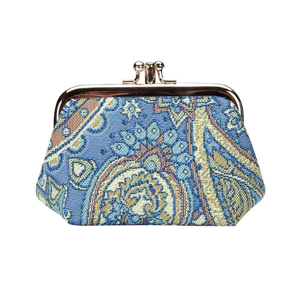 Paisley Frame Purse | Floral Branded Tapestry Coin Change Wallet | FRMP-PAIS
