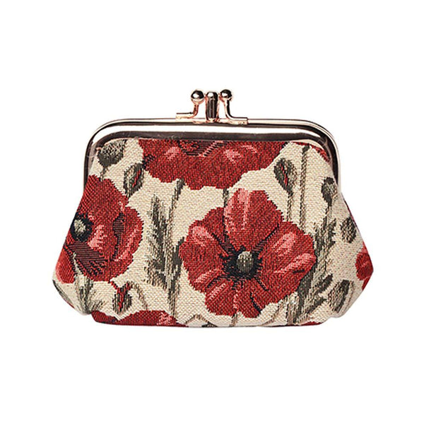 Poppy Frame Purse | Floral Tapestry Coin Purse | FRMP-POP
